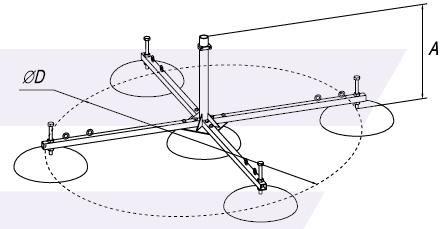 Опора для молниеприемной мачты - схема