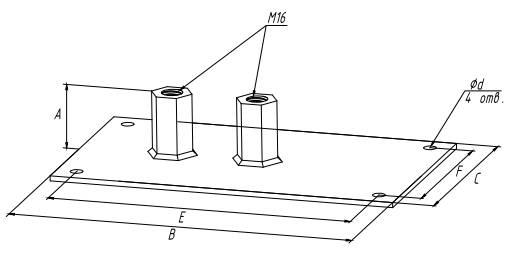 Мини-подставка для мачты 1м и 2м - схема