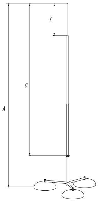Молниеприемник на треноге 5-7м - схема