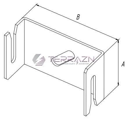 Держатель для полосы 48 мм - схема