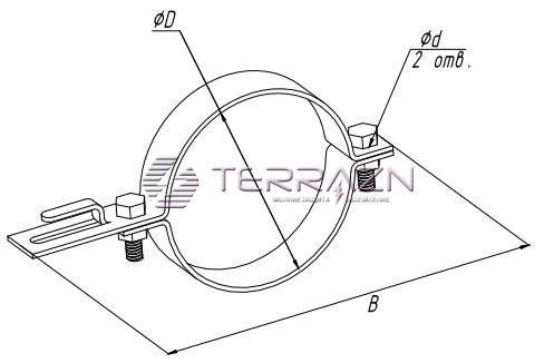Держатель для водосточных труб 165 мм - схема