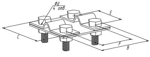 Зажим контрольный прут-прут - схема
