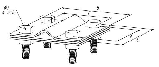 Зажим «штырь-полоса» - схема