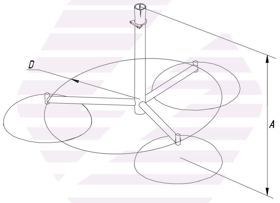 Тренога для молниеприемной мачты - схема