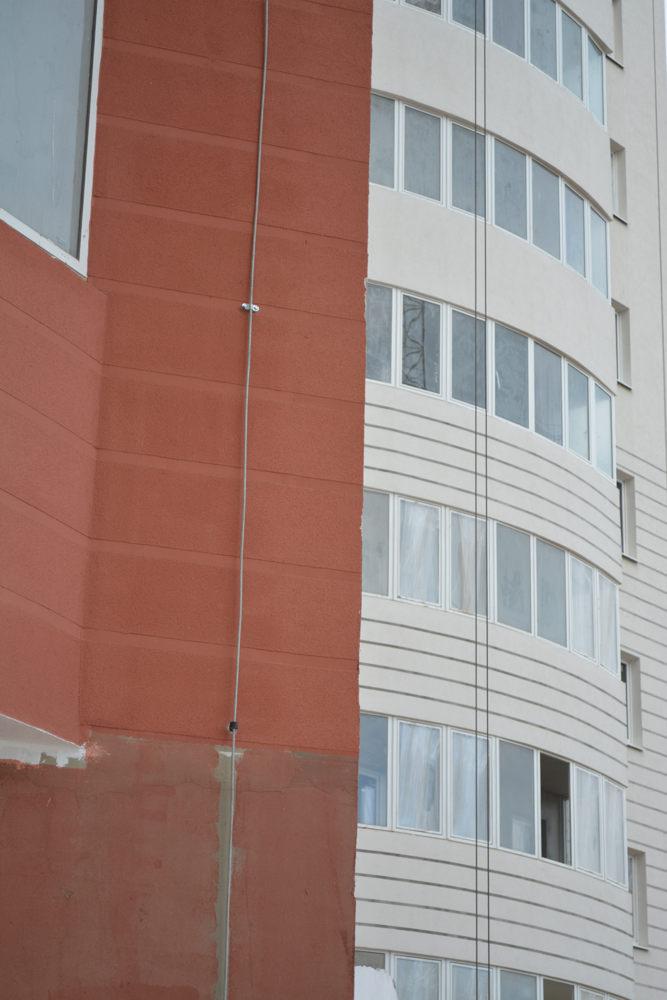 Токоотвод на большом здании