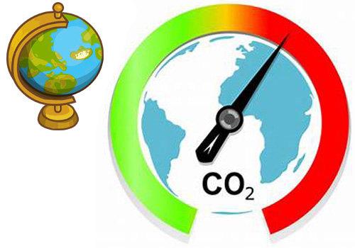 Онлайн карта концентрации углекислого газа (CO2)