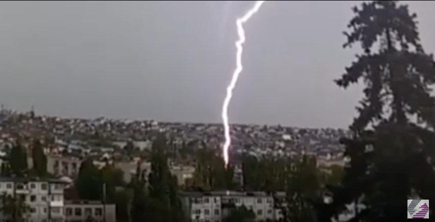 Случаи ударов молнии за май 2018 г.
