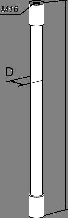 Штанга изоляционная для молниеприёмников  и токоотводов - схема