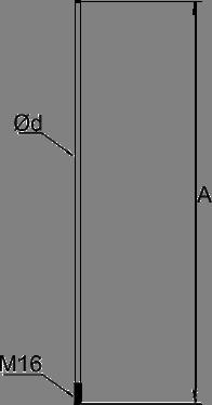Молниеприемный стержень 1-2,5 м - схема
