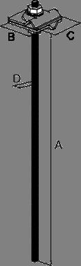 Держатель 8×330 под химический анкер - схема
