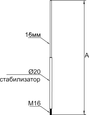 Молниеприемный стержень 3-4 м - схема