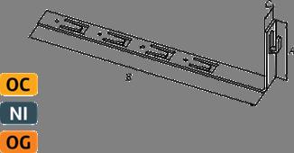 Держатель угловой под черепицу с крючком - схема