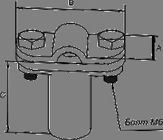 Держатель фасадный пластиковый скручиваемый - схема