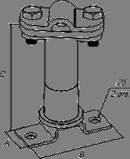 Держатель дистанционный скручиваемый - схема