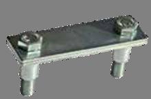 Держатель полосы на тонколистовом металлическом основании