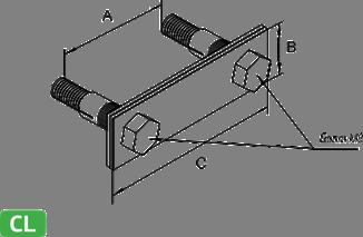 Держатель полосы на тонколистовом металлическом основании - схема