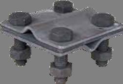 Зажим крестовидный «прут-прут» с тремя пластинами